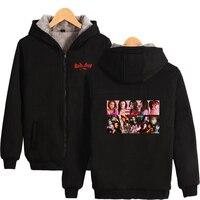 LUCKYFRIDAYF 2018 RED Velvet Print Hot Sale Long Sleeve Zipper Hoodies Sweatshirt Women Casual Kpops Clothes Kawaii Plus 4XL