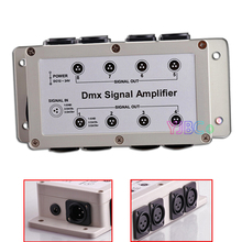 цена на 8 CH DMX512 Signal LED Intelligent Lighting Controller Stage Lamp Relay Amplifier 1000V Photoelectric Isolation Dmx Amplifier