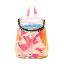 Holographic Backpack Women Laser Harajuku Clear Transparent Backpacks for Girls Kawaii Bagpacks Kiko Style Mochilas mujer L431
