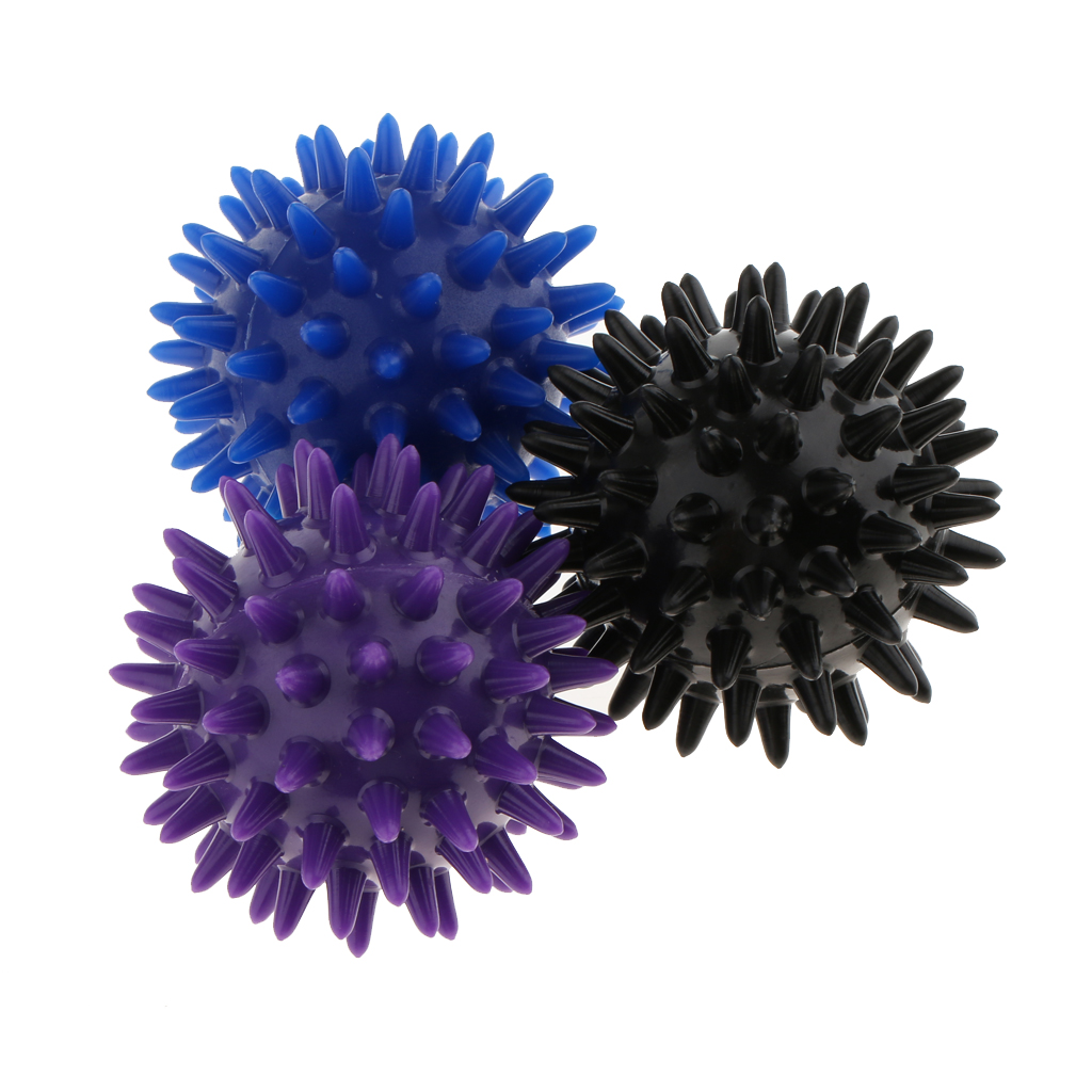 3pcs Professional Massage Ball Body Spiky Trigger Point Acupuncture Soreness Pain Relief