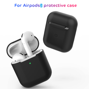 Image 2 - 2 in 1 TPU Silicone Bluetooth Wireless Earphone Case & Metal Film Sticker For AirPods 2 Protective Cover For AirPod Charging Box