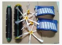 Blue AeroVac Filter Green Bristle Flexible Beater Brush For IRobot Roomba Pet Edition 600 552 551