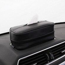 Автомобильный Черный солнцезащитный козырек, коробка для салфеток, держатель для бумажных салфеток, высокое качество, автомобильные аксессуары для хранения 23*13*9 см