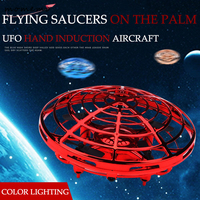 Induction UFO Four axis Aircraft Electronic Toy Infrared Sensing Anti collision Illumating Flying Toys Kids Curious Outdoor Toy