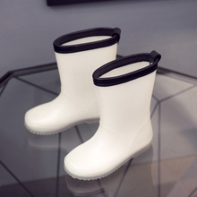 Children Rain Boot Boys Girls Jelly White Shoes Toddler 2019 Fashion Pvc Kids Rainboots