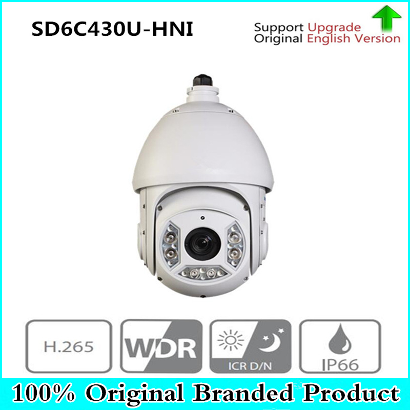 Original DH English 4MP Full HD 30X IR PTZ Network Camera IP66 Security Camera without Logo SD6C430U-HNI free DHL shipping цена