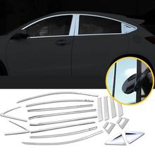 Window Body Exterior Promote Decorative Automovil Chromium Auto Modified Sticker Strip Parts Car Styling 18 19 FOR Honda Vezel door body exterior promote automovil automobile modification decoration car styling accessories accessory for honda vezel