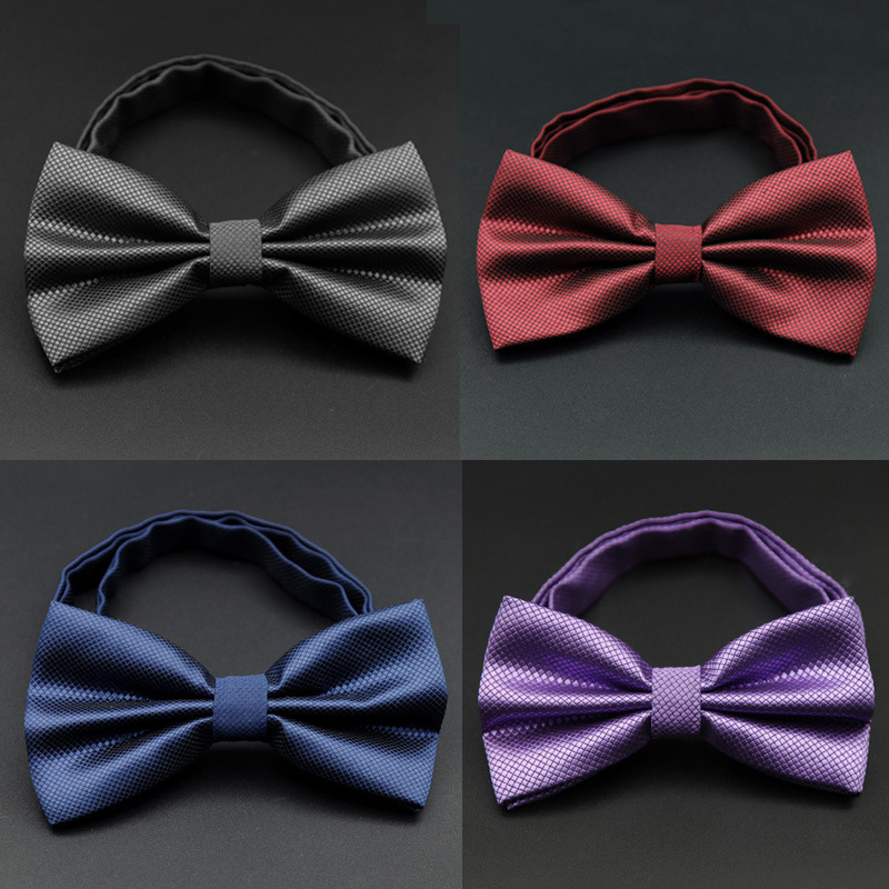 Shitja e nxehtë Burrat zyrtar komercial Gentleman Bow Tie Butterfly Cravat Bowtie Mashkull Solid Martesa Ngjyra me Solid Lidhje për Burra LD8035