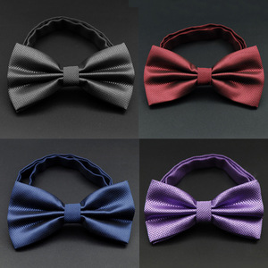 Hot sale Men Formal Commercial Gentleman Bow Tie Butterfly Cravat Bowtie Male Solid Color Marriage Bow Ties for Men LD8035