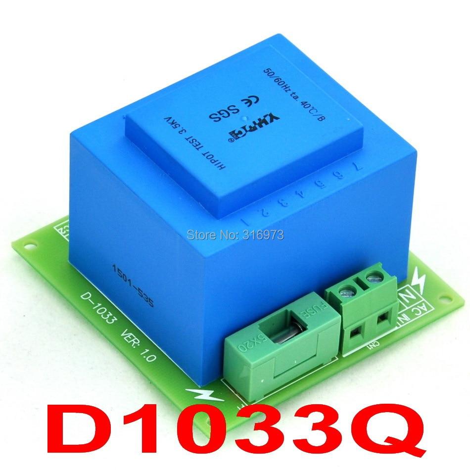 Primary 230VAC, Secondary 18VAC, 20VA Power Transformer Module, D-1033/Q, AC18VPrimary 230VAC, Secondary 18VAC, 20VA Power Transformer Module, D-1033/Q, AC18V