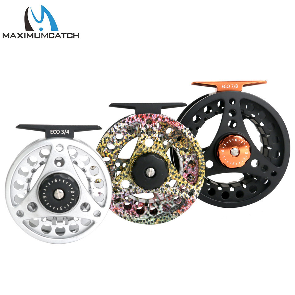 Maximumcatch High Quality ECO 3/4/5/6/7/8WT Fly Reel Large Arbor Aluminum Fly Fishing Reel Hand-Changed Fishing Reel