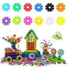 Children's desktop toys medium basic snowflake building blocks kindergarten spell inserted bricks kids early education diy toy цена