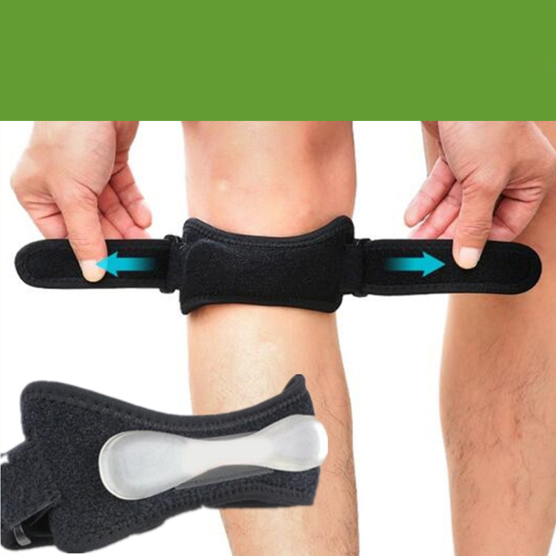 1 Pcs Professional Adjustable Knee Support Strengthened Gel Knee Brace Strap Breathable Leg Knee Pads Scrub Bodys Treatmen