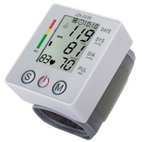Wrist Blood Pressure Monitor Digital LCD Screen Heart Pulse Monitor Device Auto Power Off Low Power
