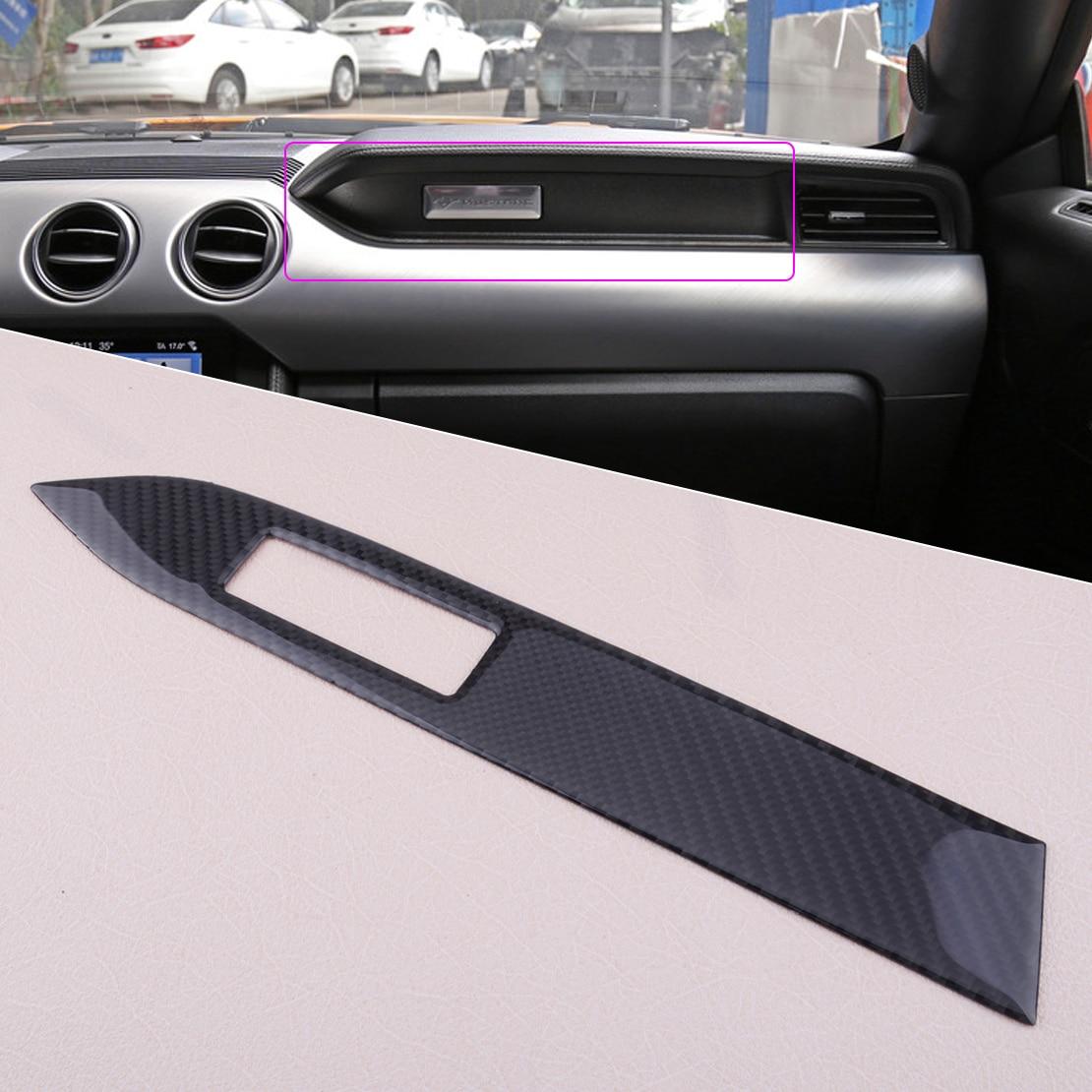 Beler Intérieur En Fiber De Carbone Center 37x5.3 cm Console Panneau Couverture Trim fit pour Ford Mustang 2015-2018