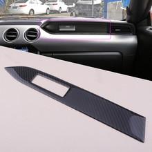 Beler In Fibra di Carbonio Interni Centro 37×5.3 cm Pannello Console Copertura Trim misura per Ford Mustang 2015-2018