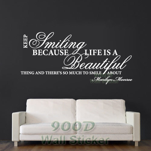 Buy wall stickers wall decals modern for Life is good home decor