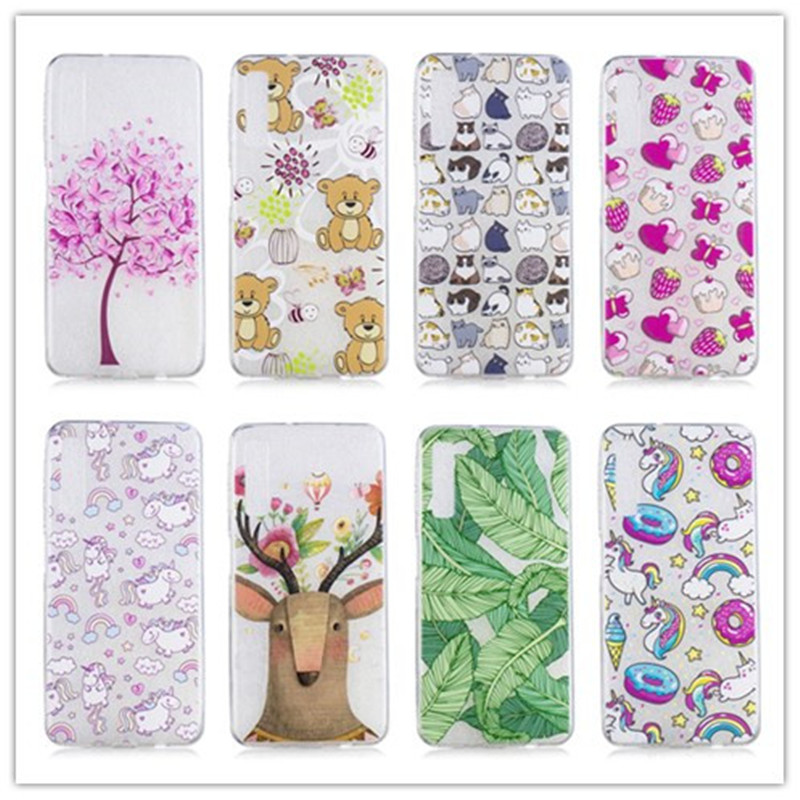For Samsung Galaxy A7 2018 A750 Case Silicone TPU Cover Phone Case For Samsung A7 2018 A750F A750 SM-A750F A 7 <font><b>A72018</b></font> Coque image