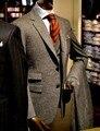 Билетов Карманный Жених Смокинги Groomsmen Нотч Две Кнопки Мужские Костюмы Свадебные Лучший Мужчина Пиджак (Куртка + Брюки + жилет) C49