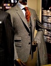 Ticket Pocket Groomsmen Notch Lapel Groom Tuxedos Two Buttons Men Suits Wedding Best Man Blazer (Jacket+Pants+Vest) C49