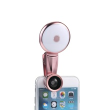 Newest 3 in 1 High quality Mobile phone camera Fill-in light Fisheye+Wide Angle+Macro Lens for Mobile Phone selfi new hot sale