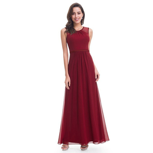 Image 5 - Elegant Burgundy Long Bridesmaid Dresses A Line V Neck Women Guest Dress for Wedding Party Ever Pretty Plus Size Formal Gowns