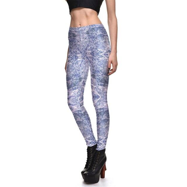 Fashion Women Legging Printed Sequin Leggings For Women Slim Pants Middle-waisted Women's Leggings