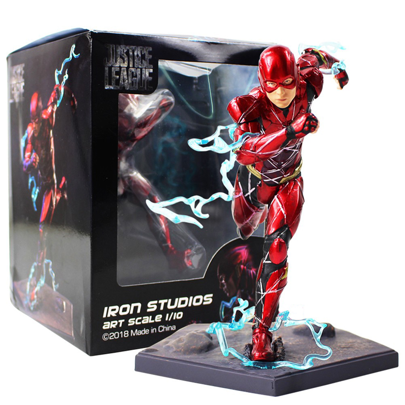 New 16cm The Flash Iron Studios DC Comics Justice League Art Scale 1/10 PVC Action Figure toys Christmas gift box image