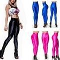 Pantalones de las mujeres causales Pantalones de Color Caramelo de Las Mujeres 2016 Otoño Invierno Moda más tamaño Cremallera Polainas Para Mujer Lápiz Pantalones Deportivos