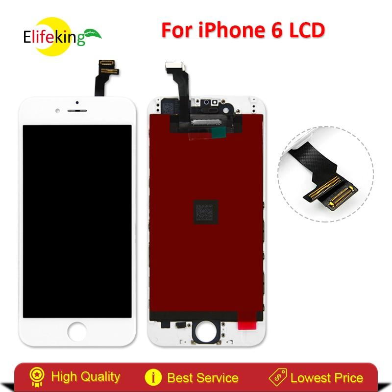 imágenes para Elifeking 20 UNIDS/LOTE AAA + Calidad de Visualización del LCD Para el iphone 6 de 4.7 pulgadas de Pantalla Táctil Digitalizador Asamblea Negro/blanco + Envío Libre