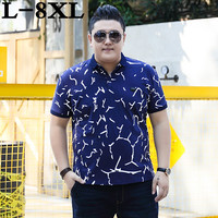 new 10XL 9XL 8XL big size Summer Guitar Printed polos Men Short Sleeve Casual Men polos Loose Fit Homme Cotton Mens