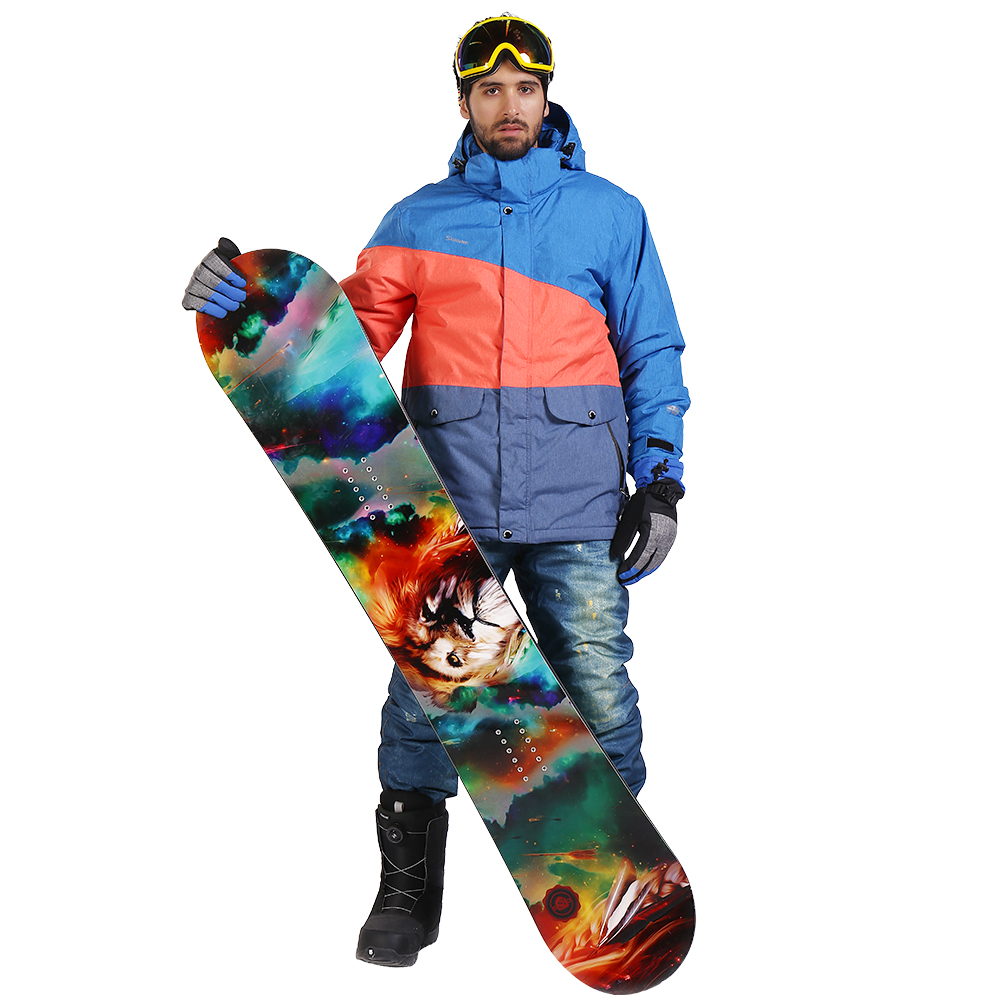 Saenshing Waterproof Ski Suit Men Mountain Skiing Jacket Snowboard Pants Breathable Winter Snow Snowmobile Coat 30