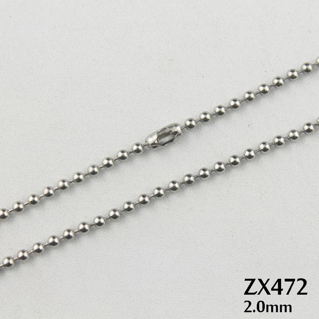 lengths quot or ball sterling dp bead necklace beaded chains chain silver