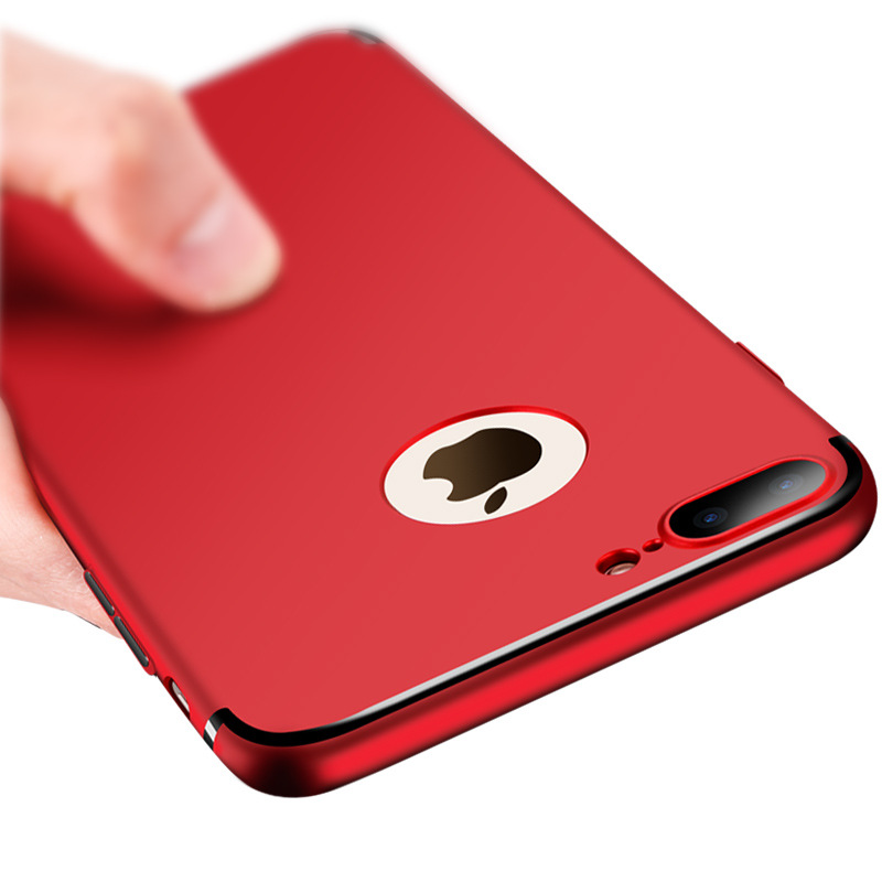 Luxury Plating Hard PC Matte Case For iPhone 7 Case Full Protective Plastic Phone Back Cover Cases For Apple iPhone 7 6 6s Plus