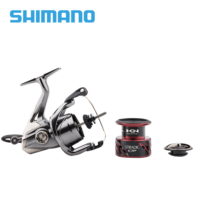 Image 4 - SHIMANO STRADIC CI4+ Spinning Fishing Reel 1000 2500 C3000 4000 Gear ratio 5.0:1/4.8:1 max drag 9kg Low Profile fishing reelsFishing Reels   -