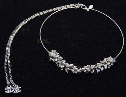 Luxury aesthetic lucky wheat ear necklace formal dress wedding dress necklace 4000