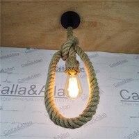 무료 배송 빈티지 로프 샹들리에 d25mm 로프트 산업용 램프 에디슨 전구 아메리칸 스타일 1/2/3 미터 길이 e27 피팅