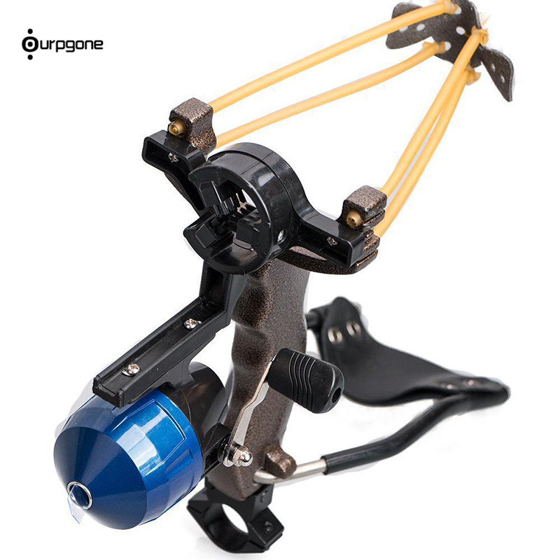 Ourpgone Hunter Hunting Fishing Slingshot Shooting Catapult Bow Arrow Rest Bow Sling Shot with Folding Wrist Catapult Crossbow high quality portable black bow slingshot catapult hunting shooting fishing reel protective wristband metal buckle