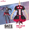 Rory Mercury Cosplay Gate Jieitai Kanochi nite Kaku Tatakaeri Red  Dress Gothic Lolita Uwowo Costume