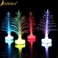 Nova Árvore de Natal Night Light Mini Color Changing LED Fibra Óptica Luzes Da Noite Árvore de Natal Luz Festival Lâmpada Casa Decoração Da Lâmpada