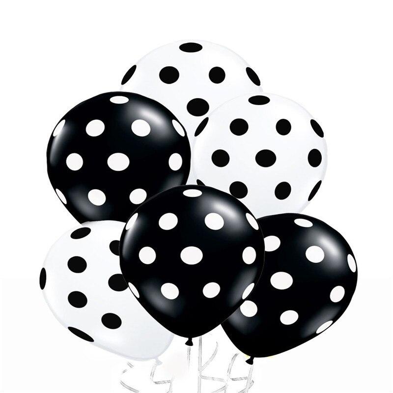 Beyaz lekeli ile 40 adet siyah beyaz kırmızı ve siyah balonlar - Tatiller ve Partiler Için - Fotoğraf 4