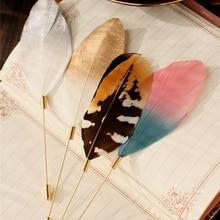 8SEASONS Zinc Alloy New Stylish Colorful Feather Brooch Women Fashion Garment Pins Accessories Jewelry, 1 Piece