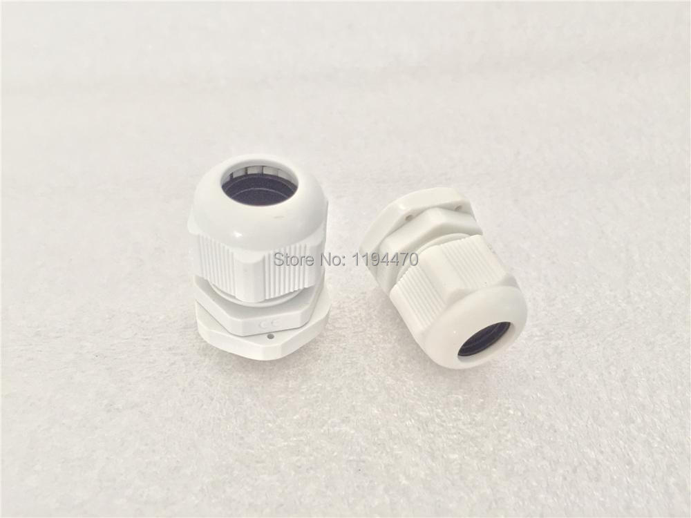 Plastic Nylon Waterproof Connector PG7 Dia 3.5-6mm Cable Gland Joints Adapter