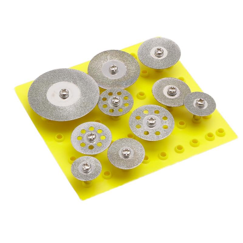 10Pcs 2.35mm Mini Diamond Cutting Disc For Rotary Mini Drills Cut Off Wheel
