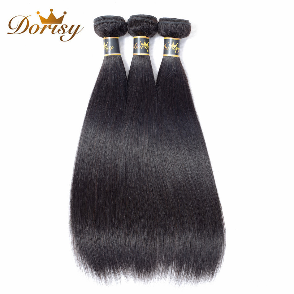 Dorisy Hair Pre Colored Mongolian Straight Hair 3 Bundles 100 Non Remy Human Hair Extension Natural