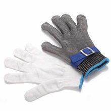 NMSafety Hohe Qualität Sicherheit Cut Proof Schützen Handschuh 100% Edelstahl Metal Mesh Butcher Handschuhe AISI 316L