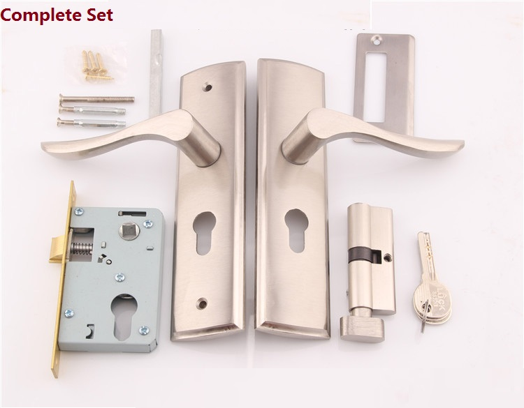 Premintehdw Mortise Interior Door Lock Set Reversal -No Left/Right Handed, 35-45mm thick door premintehdw mortise interior door rosette lock set reversal 35 50mm door thickness with ceramic handle