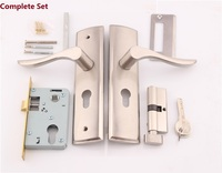 Premintehdw Mortise Interior Door Lock Set Reversal No Left/Right Handed, 35 45mm thick door