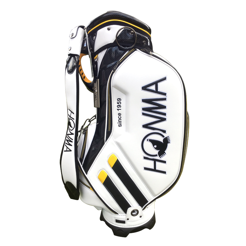 все цены на New Cooyute Golf bag High quality PU Golf clubs bag in choice 9.inch HONMA Golf Cart bag Standard Ball Package Free shipping онлайн