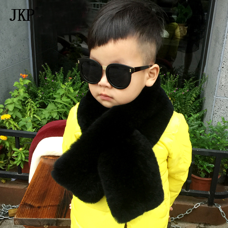 JKP 2018 Natural Rex Rabbit fur Kids girls Scarf Winter Kids Real Rex Rabbit Fur baby Scarf Kids fashion children Shawl WJ-01 ywmqfur handmade women s fashion natural knitted rex rabbit fur hats female genuine winter fur caps lady headgear beanies h15